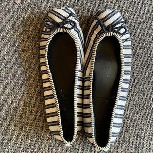 Jessica Simpson square toe stripe flats